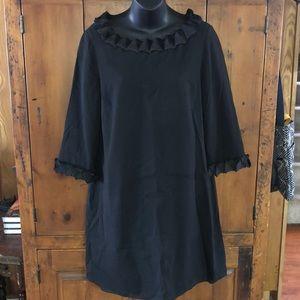 Burberry Black Silk Dress Size 10
